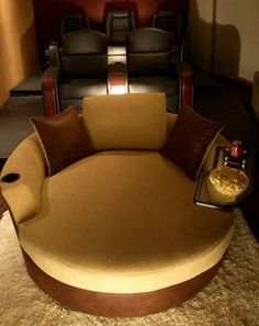A Cuddle Couch For The Theatre Room.