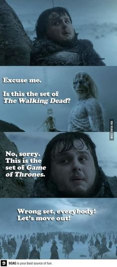 Game of Thrones and The Walking Dead humor