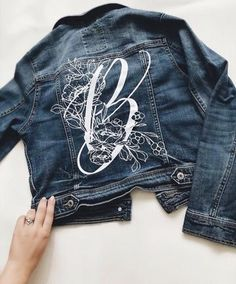 LOVESTRUCK – Bash Creative Design Diy Leather Jacket, Painted Leather Jacket, Baby Girl Announcement, Floral Denim, Painting Leather, Green Wedding Shoes, Diy Kits, Girls Night, Things To Sell