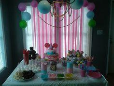 Cupcake/candy birthdayDoughnuts on skewer