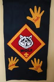 Wolf den flag