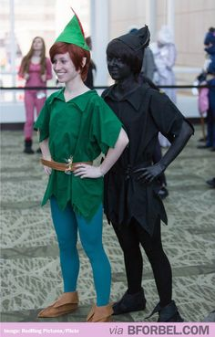 Best Peter Pan costume EVER… Em let's do this!!! I'll be the black one.. You know why. ;) hahaha @Emily Corley