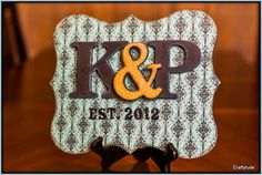 Chipboard Family Established Sign by Craftytude on Etsy, $25.00