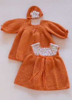 Crocheted Baby Dress, Jacket
