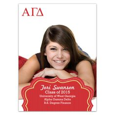Alpha Gamma Delta Badge Grad Announcements Sorority Stationery AGD Note Pad Invitations Bid Day gifts Big Little Gifts Crafts Sorority Stuff