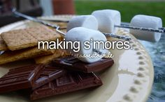 summer is spent studying for the bar so our s'mores have to be done in the oven but still AWESOME!