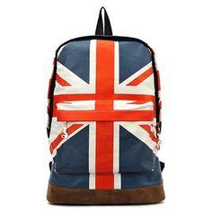 d701495d2357 Tobey Unisex Canvas Uk US Flag ShoulderBag Should Bag Handbag School Bag  Backpack For Girl Lady