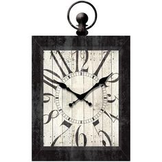 "Better Homes and Gardens 23"" Rectangle Pocket Watch Wall Clock, Black - Walmart.com"