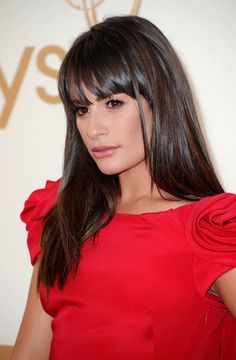Lea Michele Hair...BANGS