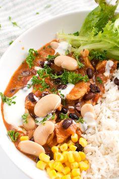 Kycklinggryta Asian Recipes, Ethnic Recipes, Asian Foods, Chana Masala, Risotto, Tasty, Healthy, Chili Con Carne, Asian Food Recipes