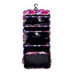 The Floral Chevron Hanging Toiletry Bag is eye catching with multiple cascading pockets and a detachable main compartment; Travel Wear, Travel Style, Travel Bags, Cosmetics And Toiletries, Cosmetic Case, Toiletry Bag, Travel Accessories, Chevron, Elephant