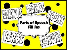 A fun, interactive way for students to find parts of speech in print! Each page covers a different part of speech: verbs, adverbs, adjectives, nouns, pronouns. Students can work independently or with a partner by cutting magazines or newspapers apart to find parts of speech and gluing them inside the letters of this printable.