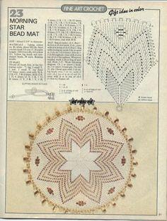 Magic Crochet n° 45 - leila tkd - Веб-альбомы Picasa Crochet Necklace Pattern, Crochet Doily Diagram, Filet Crochet, Irish Crochet, Crochet Motif, Crochet Patterns, Crochet Dollies, Crochet Art, Crochet Home