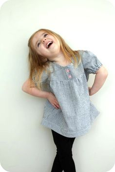 craftiness is not optional: the Olivia top -- cute as a top, but I would have to turn it into a dress since Ava is anti-pants.