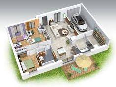 plan de maison sur terrain de 400m2