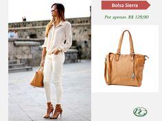 Um look monocromático com tons neutros dão mais leveza ao look e é sempre muito elegante. Invista em acessórios como a bolsa Bagaggio Sierra. Acesse: http://goo.gl/Cg3ur7 #Bagfashionistas #bolsas #Lovebolsas #Bagaggio