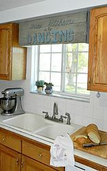 Build a faux pallet cornice from styrofoam!http://www.madincrafts.com/2013/10/faux-pallet-sign-cornice-from-styrofoam.html