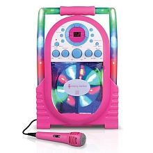 Your young vocalist can kick the party up a notch with the Singing Machine Portable Karaoke system with built-in light show, which plays music CDs and CD + . Professional Karaoke System, Singing Machine Karaoke, Led Disco Lights, Karaoke Player, Voice Effects, Adrien Y Marinette, Played Yourself, Toys For Girls, Kids Toys
