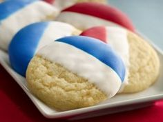 Double Dip Sugar Cookies. In patriotic or team colors!