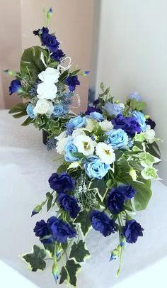 Funeral Flowers, Hanukkah, Floral Arrangements, Floral Wreath, Wreaths, Home Decor, Flower Arrangements, Craft, All Saints Day