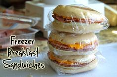 click on   JESS FUEL!    Homemade Breakfast Sandwiches you can freeze and use on the go! #Breakfast