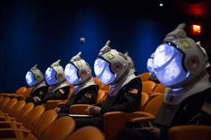 Space Projection Helmets (space projection helmet) is very similar to the helmet of astronauts in appearance, so that the wearer can simulate the astronaut's perspective perfectly and get the perfect immersive experience. The goggles on the helmet are regarded as screens, providing a comprehensive field of vision.   #SpaceProjectionHelmets