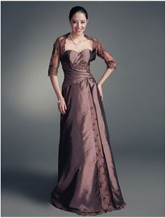 Noble A-line Sweetheart Floor-length Taffeta Mother of the Bride Dress