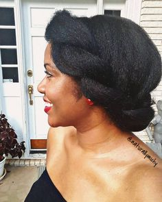 """naturallymichy: Letter """"I"""" from the ABC Bridal Series featured on my YouTube Channel now. See Bio for link. #weddinghair #chunkyflattwist #naturalhair"""