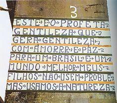 Poema 3 = de Gentileza - escrito num pilar de viaduto - Rio de Janeiro