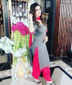 Latest Suit Design, Punjabi Suits Party Wear, Patiala Suit Designs, Punjabi Dress, Shalwar Kameez, Indian Beauty Saree, Beautiful Indian Actress, Indian Bridal, Indian Wear