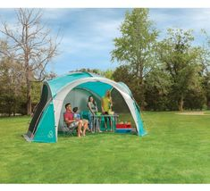 The Coleman 3.65 x 3.65 m (11.9 x 11.9 ft) Event Dome Shelter combines a sturdy structure with a flysheet featuring taped seams for increased water resistance. This Event Dome comes with 4 permanently attached screen walls that can be tucked into included pockets when not needed. | eBay!