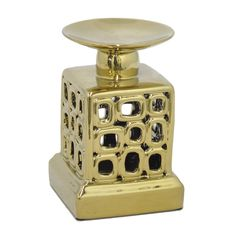 Amazing ceramic candle holder - gold