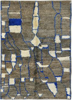 blue beni ourain. Moroccan rug.