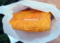 Jamacian meat pastry http://www.eatyourcity.ca/2012/08/heritage-days-edmonton-ab-heritage_16.html