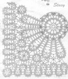 ru / Photo # 6 - 2139 my scan - shtushakutusha - Uncinetto Irish Crochet Patterns, Bobbin Lace Patterns, Crochet Chart, Filet Crochet, Crochet Motif, Bruges Lace, Crochet Home, Crochet Dolls, Lace Drawing