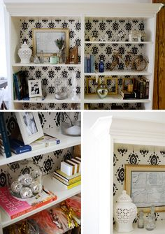 Ikea hack: adding beveled crown moulding to Billy bookcases | The Vintage Rug Shop