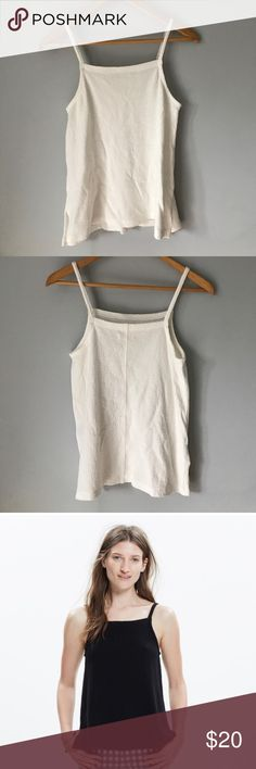 Madewell Apron Tank in Off White Never worn. Wrinkles from sitting in storage. No rips, stains, or tears. Madewell Tops Camisoles
