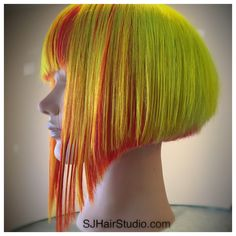 Glow in dark - with black light - neon hair colors by SJHairStudio.com