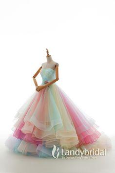 カラードレス プリンセス レインボードレス ハートネック グラデーション JWLT15067-26 税込: ¥78,300