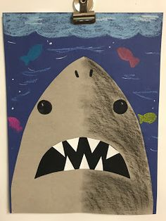 Elements of the Art Room: Kindergarten Symmetrical Sharks