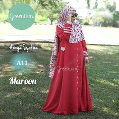 Gamis Greenism Abaya Syakira A11 MAroon - baju muslim wanita baju muslimah Untukmu yg cantik syari dan trendy . . - Bahan balotelly - Busui bumil dan wudhu friendly - Hiasan di pergelangan tangan - Kancing bukaan dada selebihnya kancing hiasan - 1 Kantong aktif - Tidak termasuk hijab . . Size chart: XS: LD 90/PB 130 S: LD 95/PB 135 M: LD 100/PB 138 L: LD 104/PB 140 XL: LD 110 /PB 142 . . Ready size XS Harga Rp 250.000 (gamis saja) . . Yuuk pesan sekarang juga hanya di Gamis Hijab Shabby Chic…