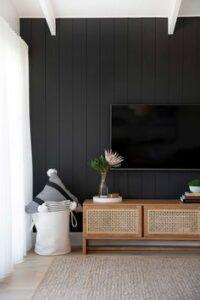 Black Living Room Walls Black Accent Walls House Interior Black Walls
