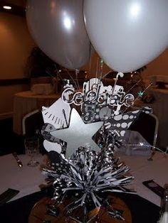 50th birthday centerpiece 50th birthday centerpiecesblack centerpiecesparty - 50th Birthday Party Decorations