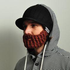 Official Beardo Beard Hats - Peak Rider Beard beanie