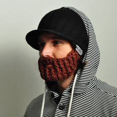 Official Beardo Beard Hats - Peak Rider Beard beanie