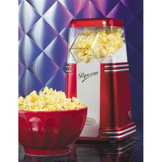 Nostalgia Electrics RHP310 Retro Series Mini Hot Air Popcorn Popper Yields up to 8 cups of popcorn per batch Convenient countertop size Healthy, oil-free popping Easy to use and easy to clean http://www.amazon.com/Nostalgia-Electrics-RHP310-Series-Popcorn/dp/B001CJKM24/ref=sr_1_26?s=kitchen&ie=UTF8&qid=1403590185&sr=1-26