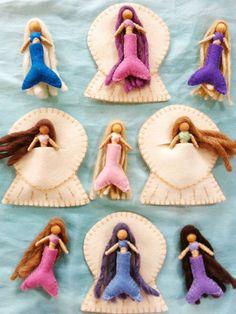Mermaid Doll  Waldorfinspired bendy doll with by JohannaKardemumma, $16.00