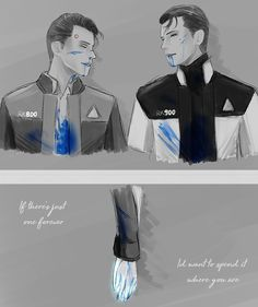 Detroit become human Connor and RK900 By: prctotype (tumblr)
