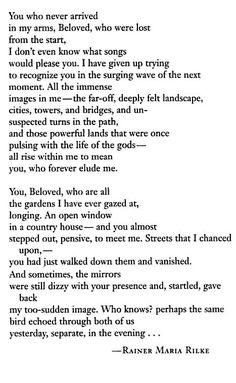 you who never arrived - Rilke