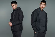 Stone Island releases Fall/Winter 2019 Ghost collection featuring tops and bottoms in monochromatic blue, white, black and military green Stone Island Badge, Rain Jacket, Bomber Jacket, Skater Outfits, Military Green, Hooded Jacket, Fall Winter, Autumn, Windbreaker